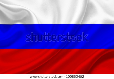 Russia waving flag - stock photo