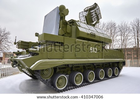 Russian antiaircraft complex Tor - stock photo