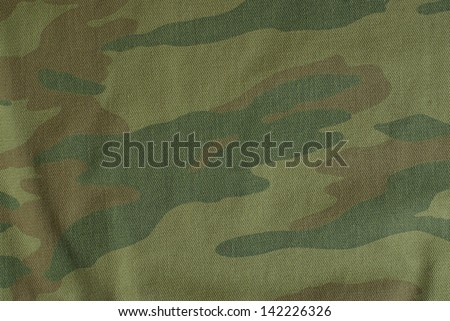 Russian camouflage fabric - stock photo