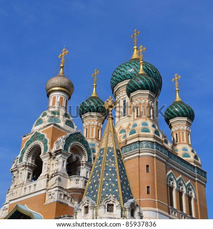 Russian Church in Nice, France - stock photo