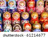 Russian dolls for sale in Moscow - stock photo