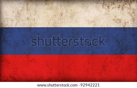 Russian flag background - stock photo