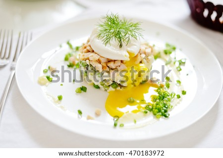 russian fresh salad on the white plate