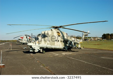Russian Helicopter Mi-24 Hind - stock photo
