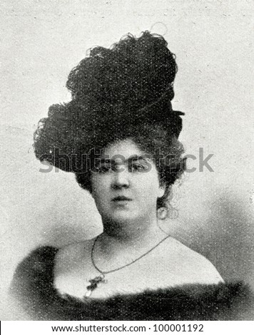 "Russian Imperial Opera Singer F. Litvin.  Published in magazine ""Niva"", publishing house A.F. Marx, St. Petersburg, Russia, 1899"