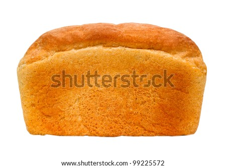 russian loaf of bread isolated on white background (clipping path) - stock photo