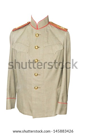 Russian military full-dress uniform of a 19 age - stock photo