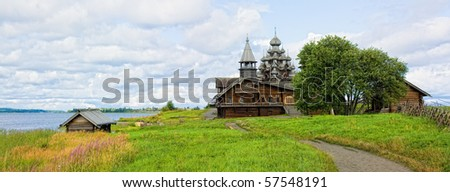 Russian monument of architecture of Kizhi Island