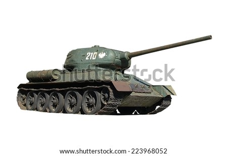 russian old tank t-34 - stock photo