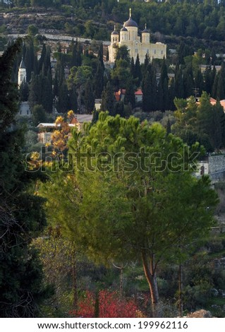 Russian orthodox mission in Jerusalem (Gornensky Convent for Women)  - stock photo
