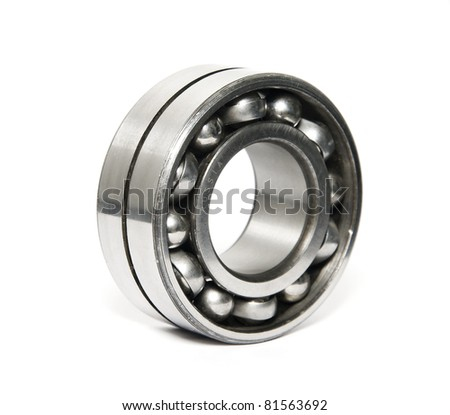 russian quality ball bearing isolated on white - stock photo
