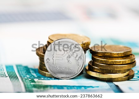 Russian rubles  - stock photo