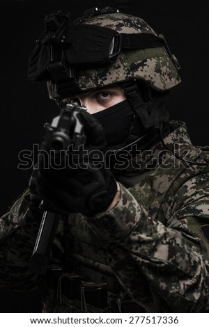 Russian special forces - stock photo