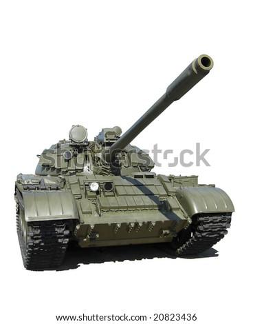 Russian tank isolated - stock photo
