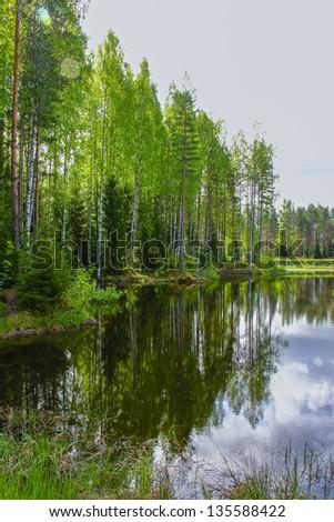 Russian waterway - stock photo