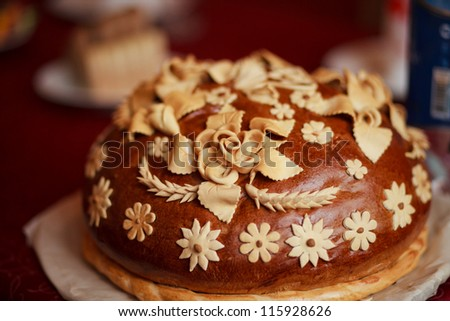 russian wedding cake - stock photo