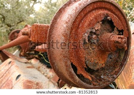 Rust Axle - stock photo
