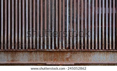 rust in iron door grunge metal  background  - stock photo