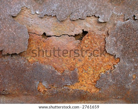rust metal layers - stock photo
