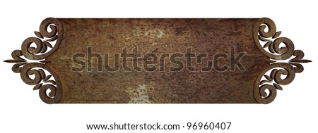 rust metal plate - stock photo