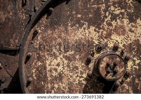 Rust metal wheel texture background - stock photo