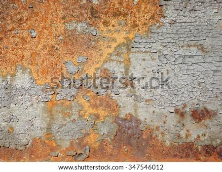 rust on a bridge - stock photo