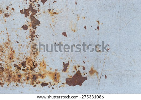 Rust texture as metal plate background. - stock photo