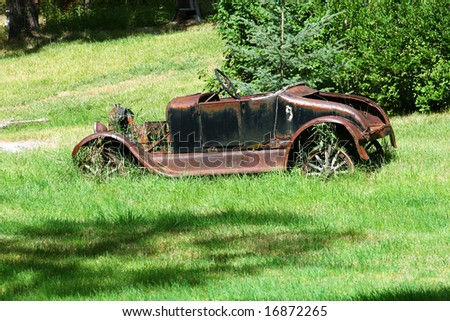 Rusted Car - stock photo