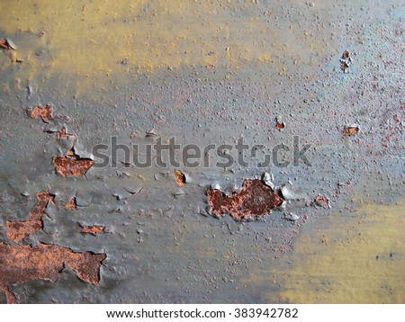 Rusted corroded industrial wall - stock photo