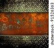rusted iron background - stock photo