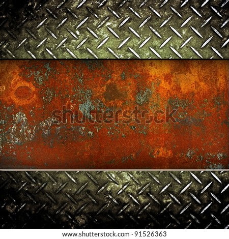 rusted iron background - stock photo