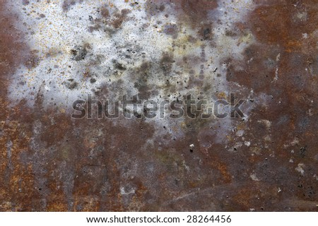 Rusted metal background. - stock photo