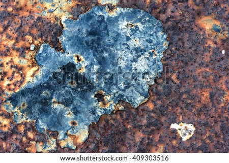 Rusted metal corroded oxidize colorful texture background - stock photo