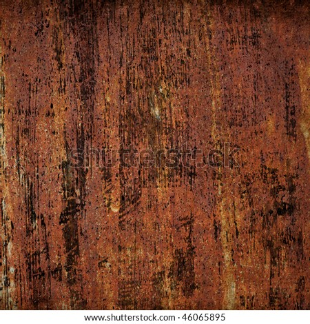 Rusted metal wall - stock photo
