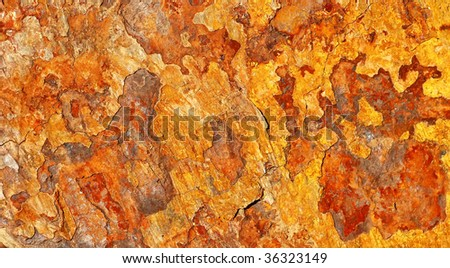 rusted shale