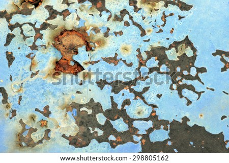 Rusted steel tin abstract pattern