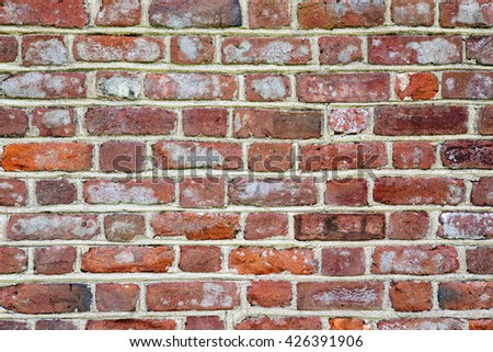 Rustic brick wall textured background - stock photo