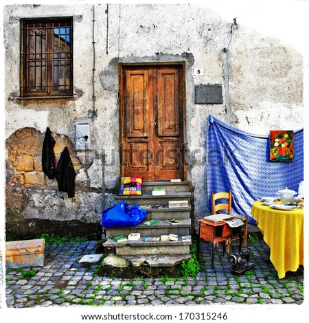rustic charming old miediterranean villages - stock photo