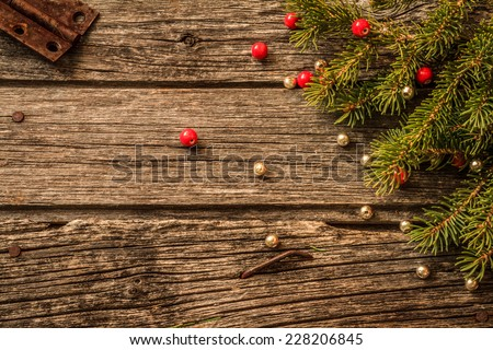 Rustic Christmas Background Aged Barn Wood Stock Photo Royalty Free