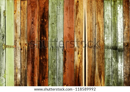 Rustic colored barn-wood - stock photo
