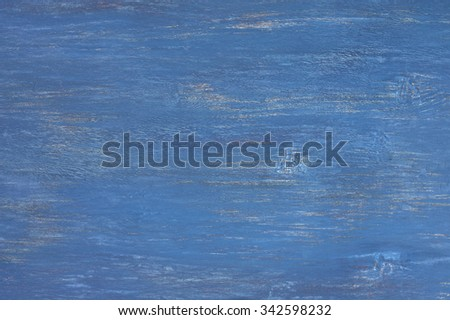 Rustic dark blue painted wood texture as background.