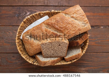 Rustic homemade whole wheat bread