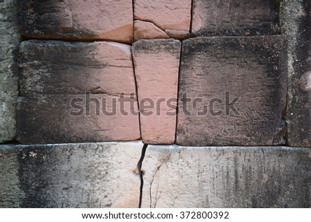 Rustic Old Brick Wall Texture - stock photo