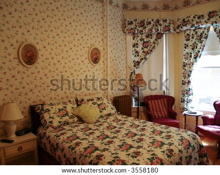Rustic Old Fashioned Bedroom Design Stock Photo (Royalty Free ...