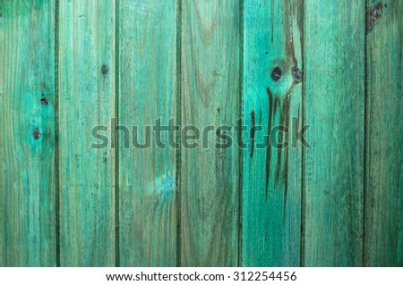 rustic painted wood's Green Fund - stock photo