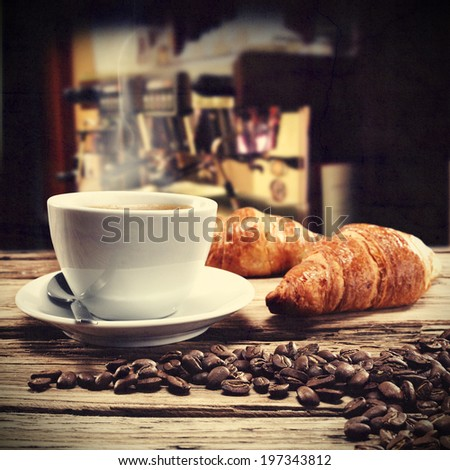 rustic photo of coffee  - stock photo