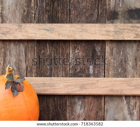 Rustic Pumpkin Background Stock Photo Royalty Free 718363582