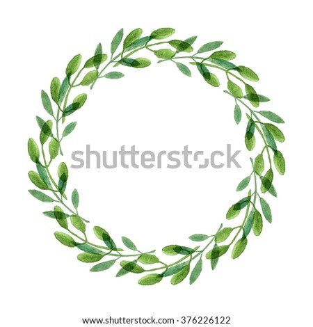 Rustic Watercolor Wreath Illustration