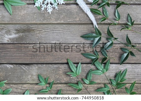 Rustic Winter Or Christmas Background