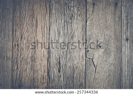 Rustic Wood Background with Instagram Style Retro Filter - stock photo